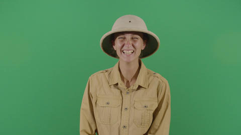Contagious Laughter Of A Woman Explorer Footage