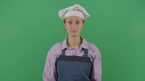 Woman Cook Smelling His Hands Stock Video Footage