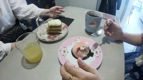 Enjoying afternoon tea at a Finnish house Footage
