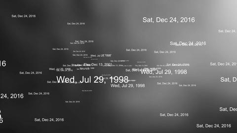 New year 2020 - random dates on grey background Animation