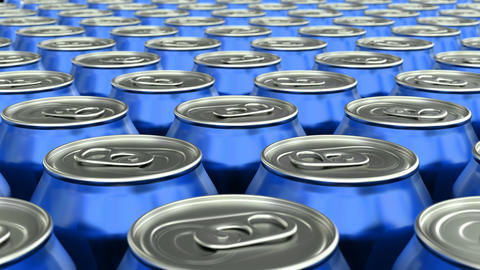 Soda cans 3D animation Animation