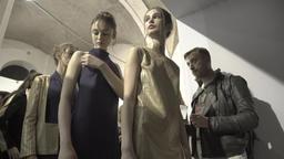Backstage fashion show. Girl model show backstage Footage