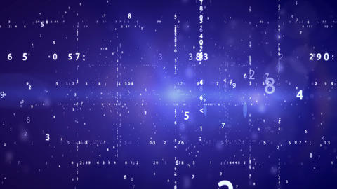 Cyberspace with digital binary code Animation