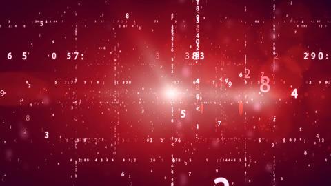 Cyberspace with digital binary code Animation
