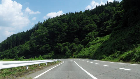 Gentle slope of a sunny day/長野県にある坂道 Live Action