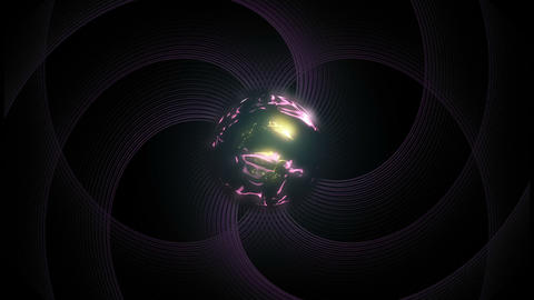 sphere and appearing wavy lines Animation