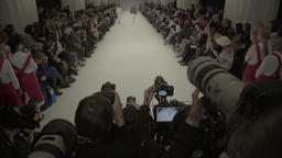 Photographers during the fashion show Footage