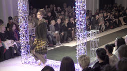 Model at fashion show Footage