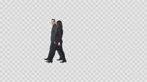Two business colleagues are walking and discuss corporate... Stock Video Footage