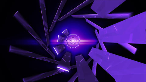 Abstract technology tunnel Animation