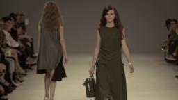 Fashion week. Models walk the catwalk at fashion show Footage