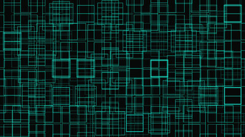 Abstract Digital Grid Geometric Pattern Animation