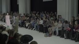 Models are coming before the audience at fashion week Footage