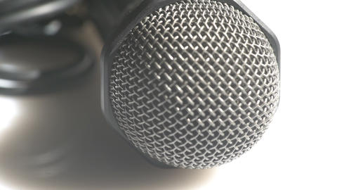 Macro view of a handheld microphone Footage