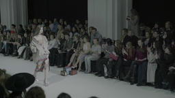 The runway on which a model during a fashion show Footage