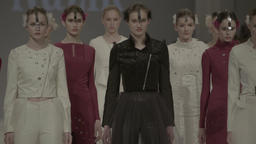 A group of models on the catwalk during a fashion show Footage