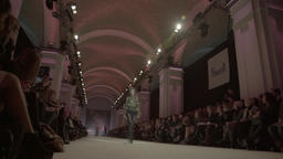 Fashion show in the great hall Footage