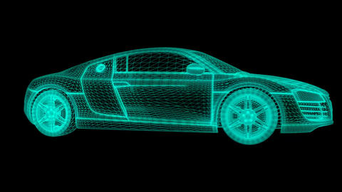 Audi R8 Holographic HUD Animation (Loopable) CG動画