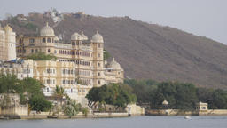 City palace museum at lake Pichola,Udaipur,India Footage