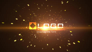 Fire Particles Explosion Light Logo Reveal Intro - Dark Business Logo Stinger After Effects Projekt