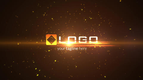Fire Particles Explosion Light Logo Reveal Intro - Dark Business Logo Stinger After Effects Template