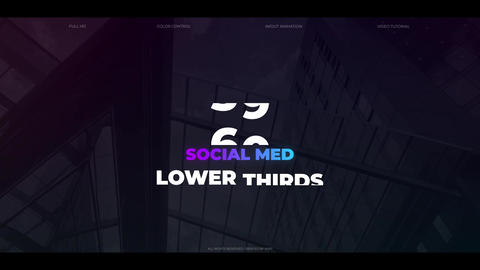 60 Social Media Lower Thirds Motion Graphics Template