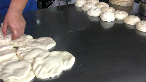 Making Roti Bread Dough Stock Video Footage