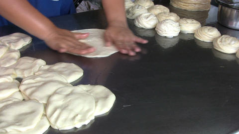 Making Roti Bread Dough Footage