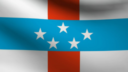 Netherlands Antilles flag Animation