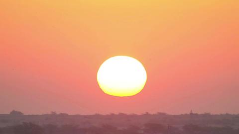 Indian sunrise Footage