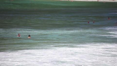Waves od Andaman sea Stock Video Footage