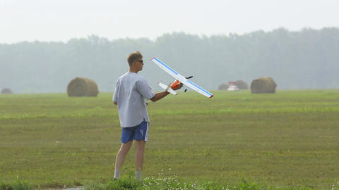 Radio-controlled aircraft Stock Video Footage