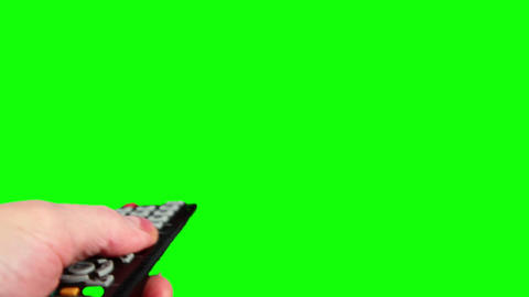 Surfing television channels green screen HD Live Action