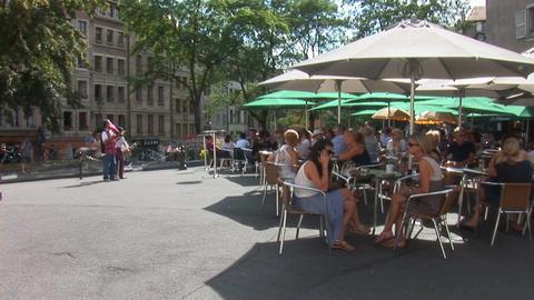 street music in Geneva Stock Video Footage