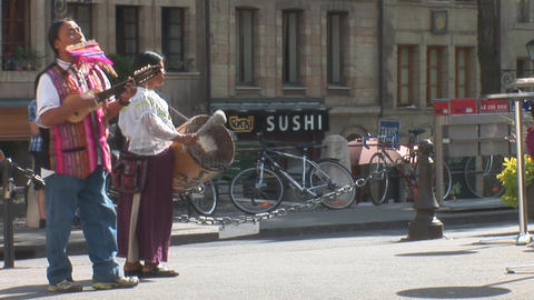 street music in Geneva Footage