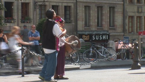 street music in Geneva Stock Video Footage