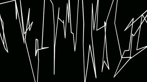 lines graffiti Stock Video Footage