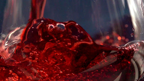 Pouring red wine HD Stock Video Footage