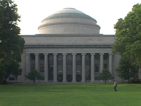 A dome covers a building at the Massachusetts Institute of technology Footage