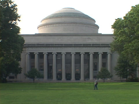 A dome covers a building at the Massachusetts Institute... Stock Video Footage
