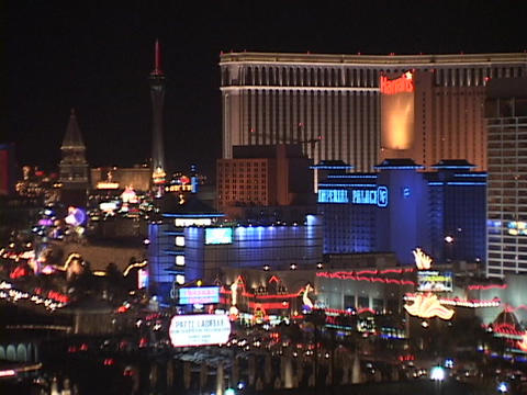 Traffic drives past the hotels and casinos on the Las Vegas strip Footage