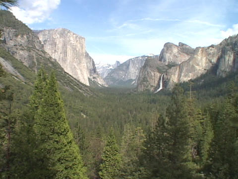 Majestic mountains stand in Yosemite National Park Live Action