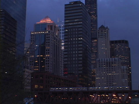 Skyscrapers tower over Chicago Stock Video Footage