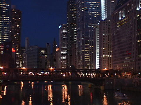 Skyscrapers tower over Chicago Footage