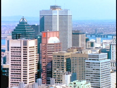 Skyscrapers fill the Montreal skyline Footage