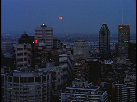 Skyscrapers fill the Montreal skyline Stock Video Footage