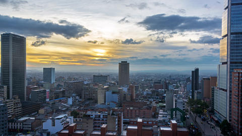 Downtown Bogota Time Lapse Footage