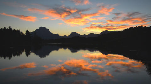 Teton National Park Sunset Footage