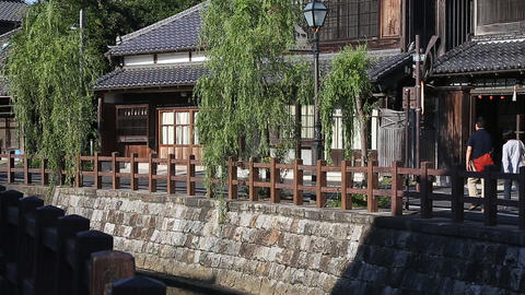 Tourist destination that is said to be small Edo in Chiba of Japan/佐原に街 ビデオ
