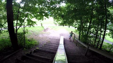POV, Person Sliding down Massive Slide: GoPro + Gimbal Live Action